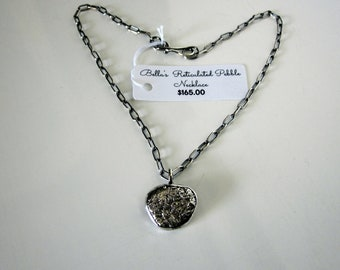 Bella's Reticulated Pebble Necklace