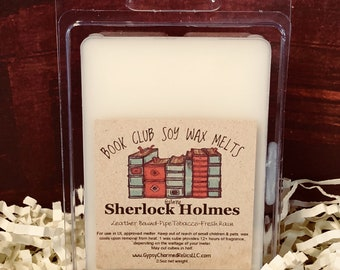 Sherlock Holmes - Book Club - Gift - Scented Soy Candle Melt - Book Lover Gift - Book Candle Tart - Book lovers Tart - Booklover