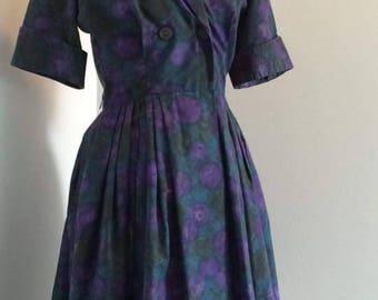 Late 1950s - Early 1960s Westbury Fashion Shirt Dress, size 14