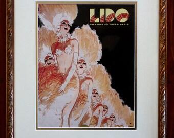 Lido Nightclub Paris Souvenir Program 1968 Exquisitely Framed (No 6)