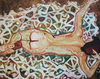 Fine art.Textured Large Figurative Painting.oil Painting on Canvas.Extra Large  Realism Painting.Wall Art.italian artist.Minimal.design.Art