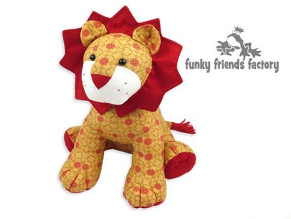 LION Toy Sewing Pattern Plush PDF Pattern