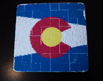 Colorado Flag Coasters - Set of 4