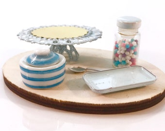 Spring Blue - Cake Stand / Dessert Tray / Serving Set