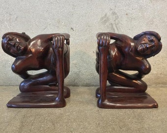 Big Footed Carved Bookends (PFKLYG)