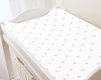 Carousel Designs Pink Stars Changing Pad Cover