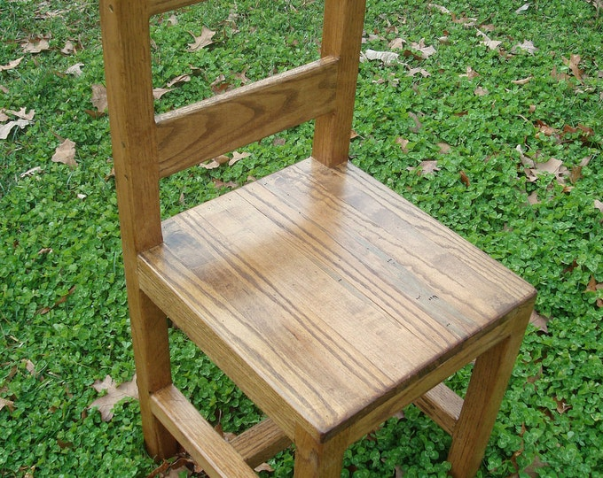 Wood Chair Oak Wood Chair Maple Wood Chair Wide Plank Rustic Wood Chair Shaker Chair