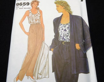 It's So Easy Simplicity Misses' Jacket, Top And Pants Pattern 9659 Size 10, 12, 14, 16, 18, 20