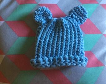 Crochet Baby Bear Newborn Hat