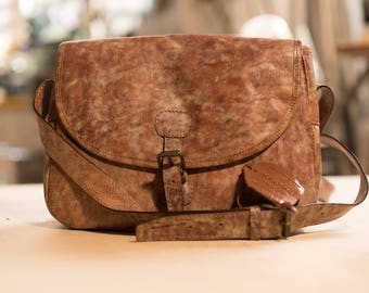 Leather handmade shoulder bag - Magnani (made in Italy)