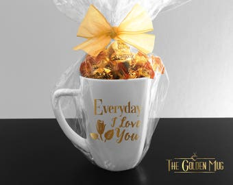 I Love You Mug Home Decor Everyday I Love You Rose Mug - I Love You Coffee Cup - Gift For Girlfriend - Wife Mug