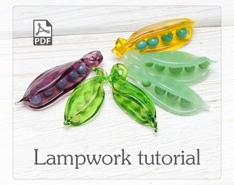 Making a beautiful pea pod bead - lampwork tutorial eBook - A comprehensive guide for creating a pea pod beads without use of mandrels
