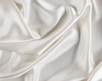 Eggshell Silk Charmeuse, Fabric By The Yard