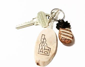 Custom Driftwood State Keychain
