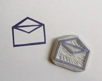Envelope rubber stamp, envelope stamp, shipping stamp, postage stamp, invitation rubber stamp, happy mail stamp, packaging stamp, stamp, diy