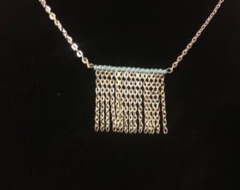Dainty Fringe Rectangle Necklace