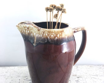 Brown Vintage Drip Pottery Pitcher - Kathy Kale USA