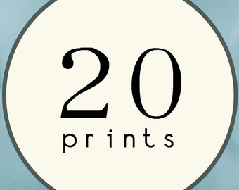 20 PRINTS - SINGLE SIDED Printed Invitations Cards - 95355400
