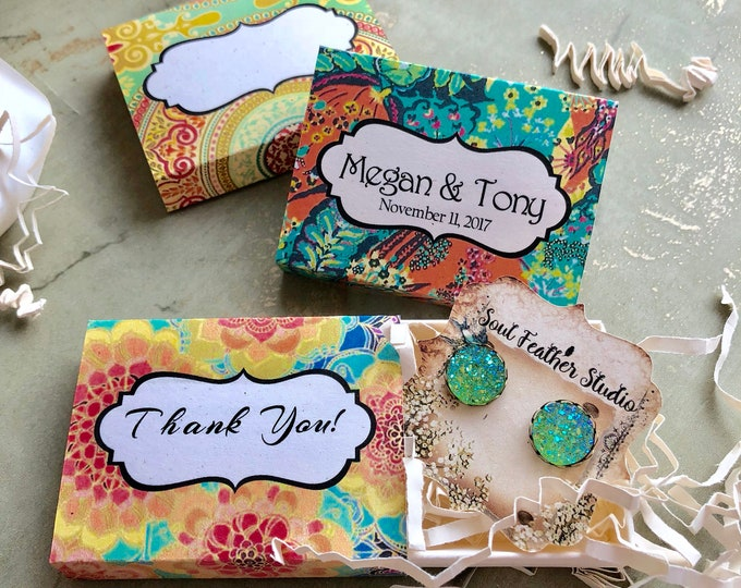 Set of 12 •2x2.60 GIFT BOX•Necklace Box•Jewelry Box•Necklace Holder•Gift Packaging•Earring Holder•Necklace Holder• Boho 7