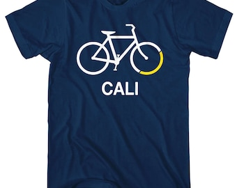 Bike California T-Shirt - Men and Unisex - XS S M L XL 2x 3x 4x - Bicycle Shirt, Cycling Shirt, Cali Shirt, Bike Shirt, Bicycle Sign Shirt