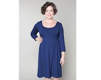 Empire Waist Dress Matte Jersey Customizable 4 Lengths Misses & Plus Sizes 2-28