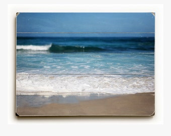 Wood Plank Sign: Beach Decor, Wood Wall Art, Blue Home Decor, Blue Wall Art, Beach Decor Print, Coronado Beach Print, Beach Sign Blue.