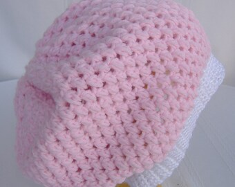 Boho slouchy hat,crochet pink white hat,hippie hat,crochet women slouchy hat,bohemian style hat,crochet slouchy beanie,dread hat,beanie hat