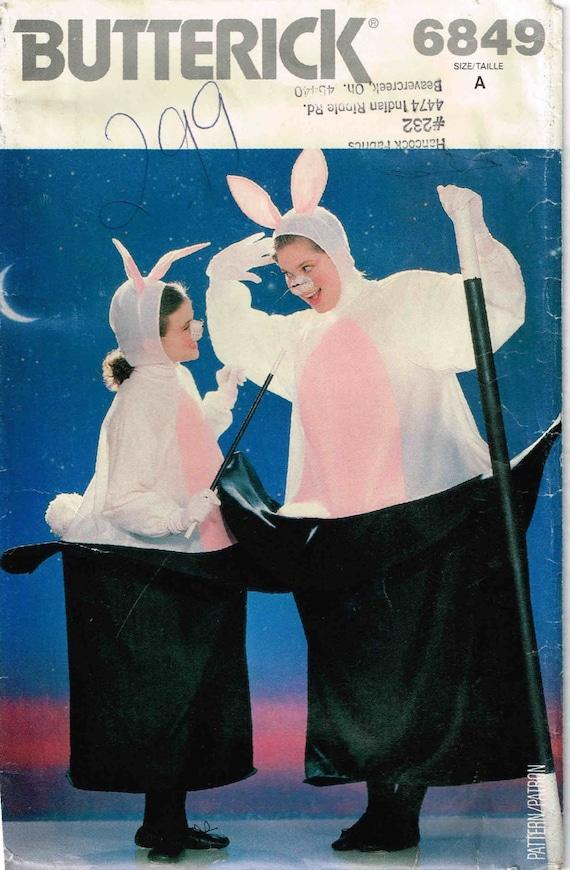 Nähen Muster Misses Männer Hase im Hut Halloween Kostüm Butt