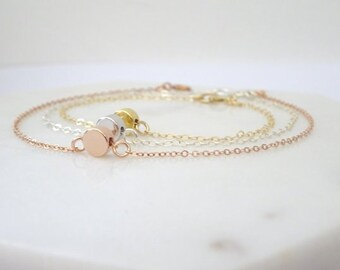 Personalized Bracelet, initial bracelet, Semicolon bracelet, Dot bracelet, Layering Bracelet, bridesmaid Bracelet, Bridesmaid bracelet