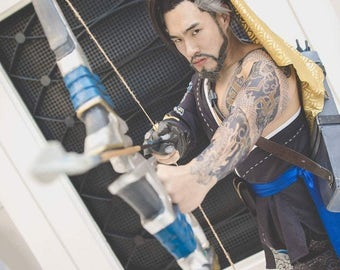 Hanzo temporary tattoo sleeve