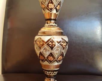 Lovely Copper Effect Metal Vase