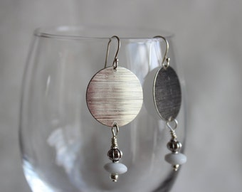 Silver and czech glass earrings