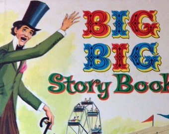 Big Big Story Book Children's reading vintage Whitman