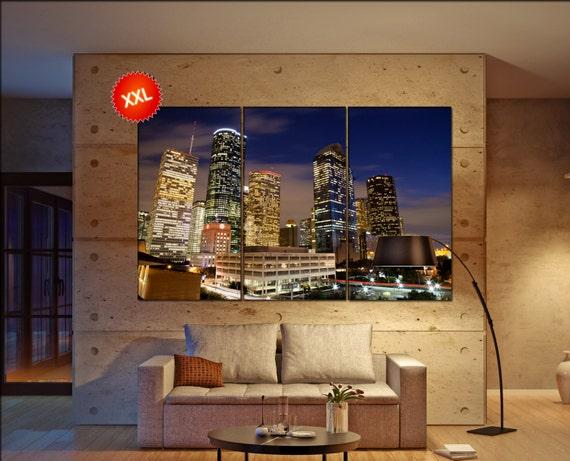 Houston wall decor art  Houston  black white  Houston canvas wall art  canvas wall art