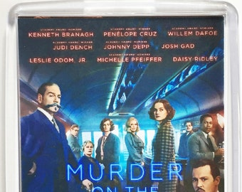 Murder on the Orient Express Johnny Depp Kenneth Branagh movie poster Fridge Magnets & Keyrings Version 1 - New