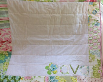 Personalized Baby Name Quilt- Nicey Jane floral prints