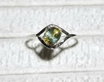 Handmade brilliant Montana Sapphire ring