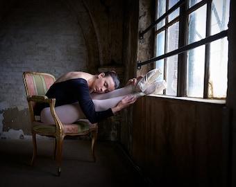 Ballerina in Church art print
