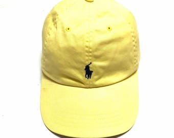 Rare!! Vintage Polo by Ralph Lauren Baseball Cap One Size Fits All