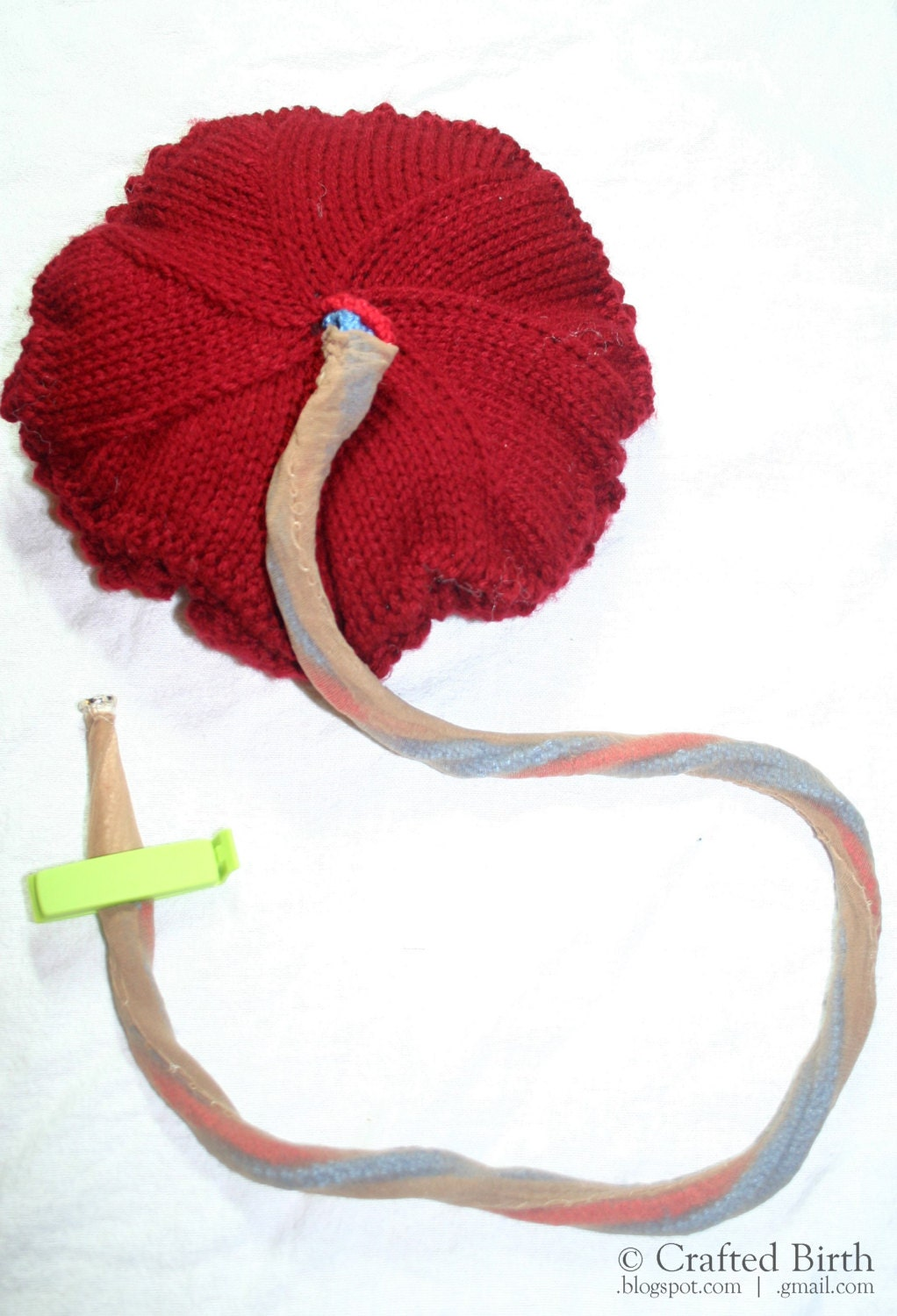 Pattern: Knitted Placenta and Umbilical Cord - Hand-Made ...