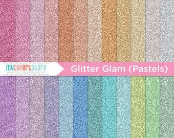 Digital Texture - Glitter Glam Pastels, Fine Glitter Papers, Scrapbook Paper, Digital Pattern, Commercial Use, JPEG