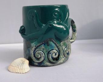 Octopus Mug Handmade Ceramic Mug from my Charleston, SC Studio