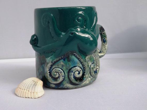 Octopus Mug Handmade Ceramic Mug