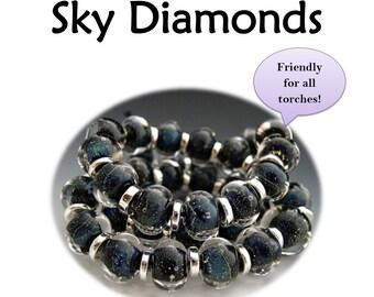 TUTORIAL Naos Glass Sky Diamonds Lampwork Tutorial Pdf File Instant Download How To DIY Handmade lampwork beads SRA