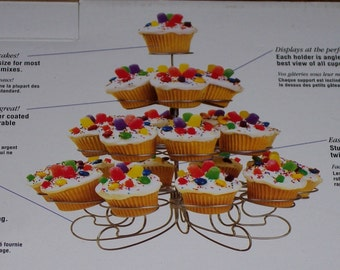 Wilton Cupcakes 'N More dessert stand,hold 23,contemporary,elegant,party food stand,weddings,showers