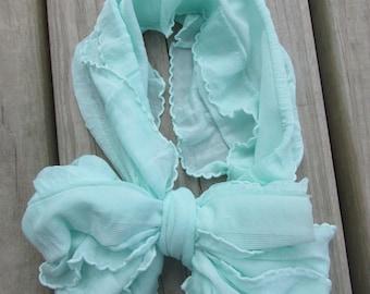 Mint Messy Bow Headband