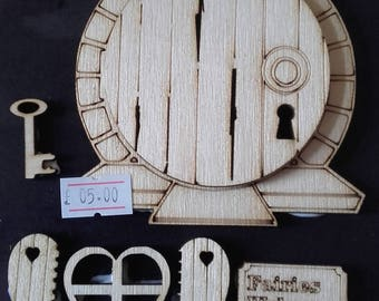 4mm laser cut and engraved Birch Ply Fairy Door Kit