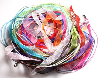 10pc - neck Organza and cotton 47 cm - 4558550080936 towers necklaces