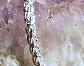 B2602 Fancy Silver Chain Bracelet