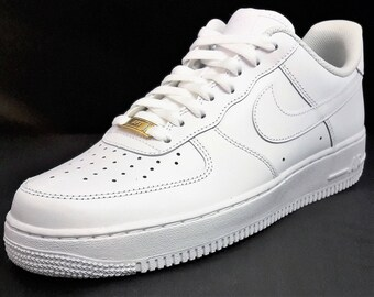 Nike Air Force 1 Low, Real 24k Gold lace lock, Leather Metal, custom air force 1 (fashion,bling,sports,yoga,fitness)